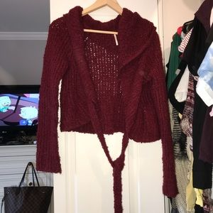 Cranberry Free People Sweater